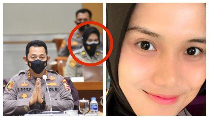 Sosok Novita Rindi, Polwan Cantik Berhijab Hadir saat Tes Jenderal Listyo Sigit Prabowo di DPR