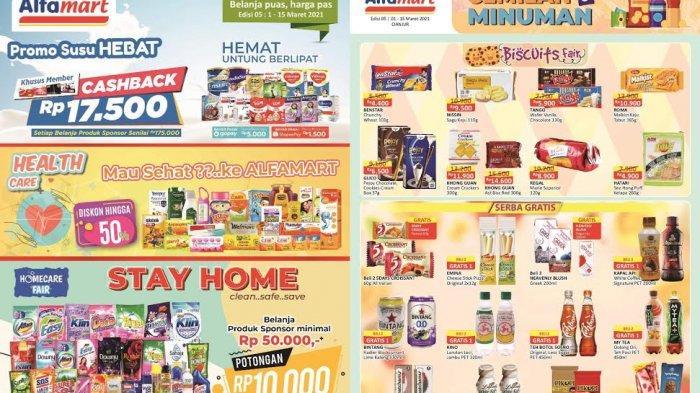 CEK Katalog <a href='https://manado.tribunnews.com/tag/alfamart' title='Alfamart'>Alfamart</a> Terbaru Minggu 14 Maret 2021, Promo JSM Beras, Minyak, Shampoo hingga Snack
