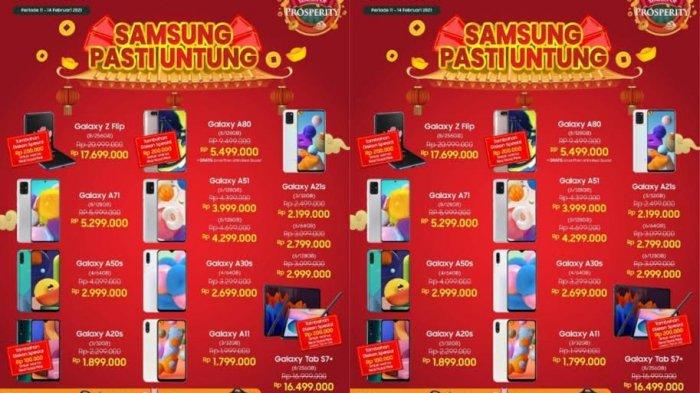 Promo HP Samsung Spesial Imlek 14 Februari 2021, Ada Potongan hingga Rp 200.000