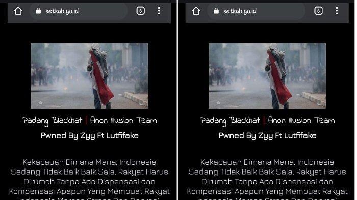 Siapa Zyy Ft Luthfifake?ABG Bobol Situs Resmi Setkab RI Berawal Staf IT Setkab Log In di Area Publik