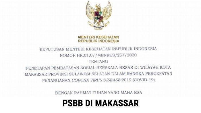 Menteri Kesehatan Terawan Agus Putranto Keluarkan SK PSBB di Makassar, Lihat Isinya, Respon Aliyah