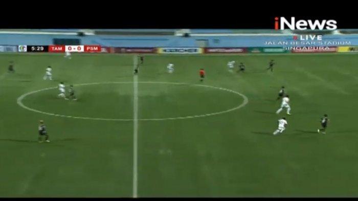 Skor 0-0, Nonton di Youtube Sekarang Live TV Online iNews TV Tampines Rovers vs PSM Makassar