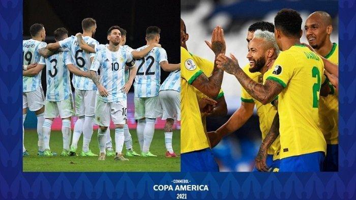 SKOR Sementara  Argentina vs Brasil 1-0, Ini Link Live Score dan Nonton Live Streaming TV Online
