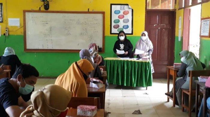SMPN 2 Malili Lutim Simulasi Pembelajaran Tatap Muka di Sekolah, Orangtua Siswa Senang