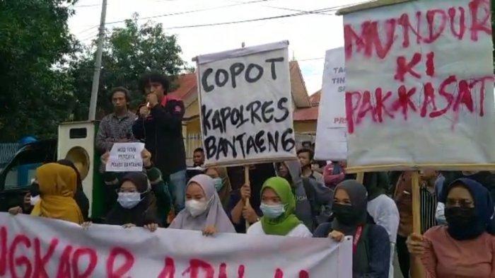 Solidaritas Peduli Kemanusian Tuntut Kasat Reskrim dan Kapolres Bantaeng Dicopot
