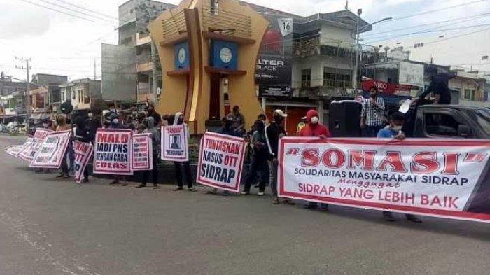 Somasi Demo di Bundaran Pangkajene Sidrap, Ini Tuntutannya