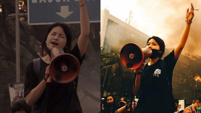 Foto-foto Mahasiswi Unhas yang Viral saat Orasi Tolak UU Cipta Kerja dan Jabatan Menteri BEM
