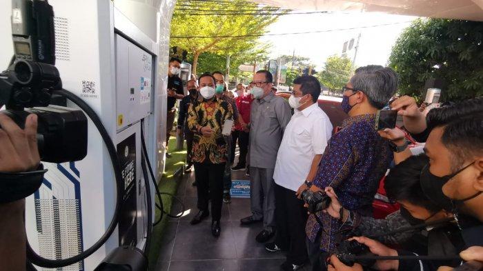 SPKLU Integrasi Charge.IN Pertama di KTI Hadir di ULP Mattoanging Makassar