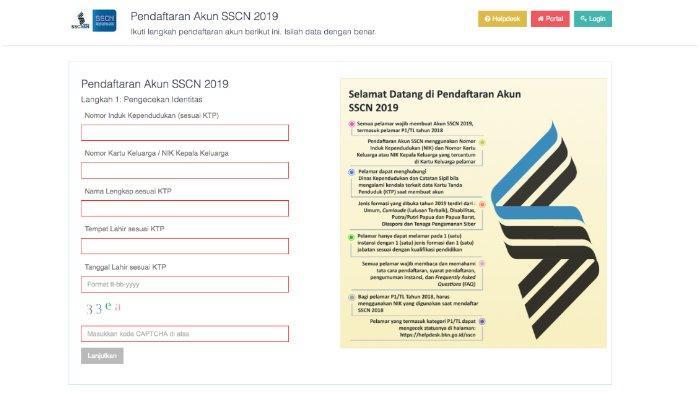 Jangan Lakukan Ini saat Buat Akun CPNS 2019 di sscasn.bkn.go.id , Perhatian Pendaftar Formasi SMA