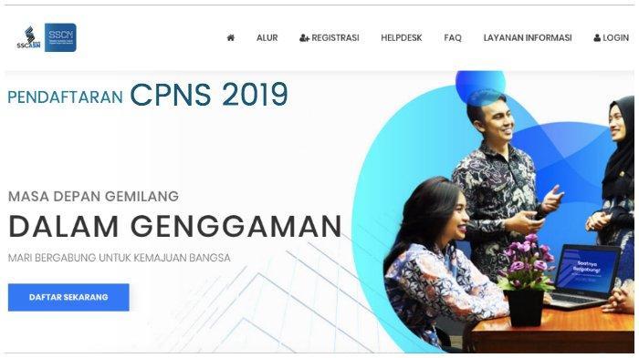 Situs Pendaftaran CPNS 2019 https:// sscasn.bkn.go.id sscn.bkn.go.id Error dan Cara Buat Akun Login