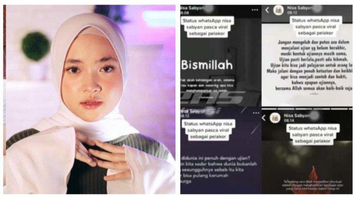 Inilah Bunyi Status WhatsApp (WA) Nissa Sabyan di Tengah Dugaan Skandal Selingkuh dengan Ayus