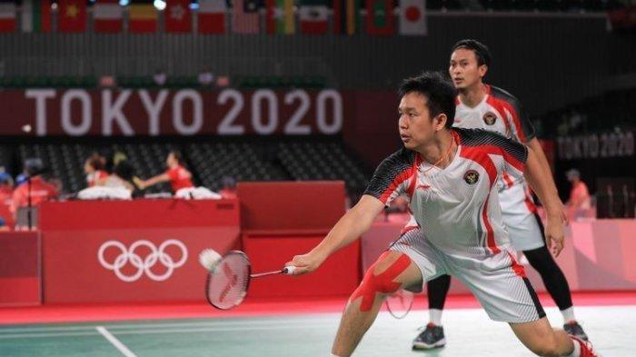 SEGERA TAYANG 3 Link Live Streaming TV Online Ahsan/Hendra Semifinal Badminton Olimpiade 2021