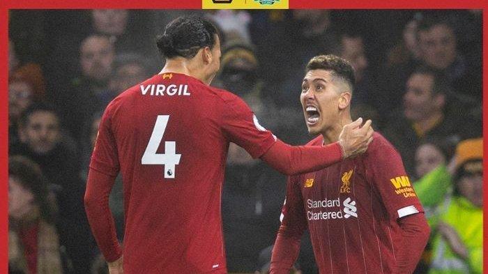 Hasil Liga Inggris, Liverpool Tekuk Wolverhampton, Firmino Raja Gol Tandang