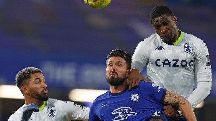 HASIL Babak Pertama Chelsea vs Aston Villa Liga Inggris, The Blues Unggul Tipis Lewat Olivier Giroud