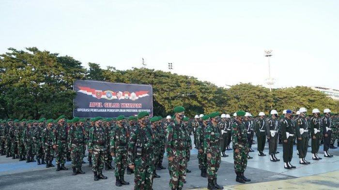 FOTO: Kodam XIV Hasanuddin Turunkan 6.000 Personel Gabungan Awasi Penerapan Protokol Kesehatan