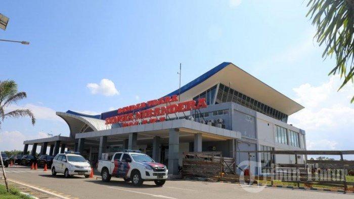 Suasana Bandara Shangia Ni Bandera Kolaka yang terletak di Desa Tanggetada, Kecamatan Tanggetada, Kabupaten Kolaka, Sulawesi Tenggara, Sabtu (13/3/2020).