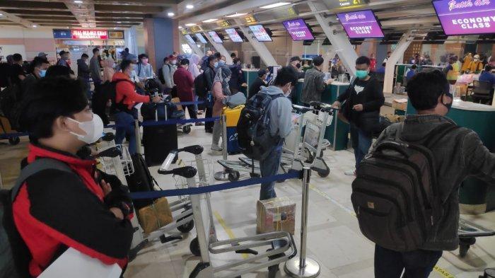 H-1 Larangan Mudik, Jumlah Penumpang Bandara International Sultan Hasanuddin Meningkat Drastis
