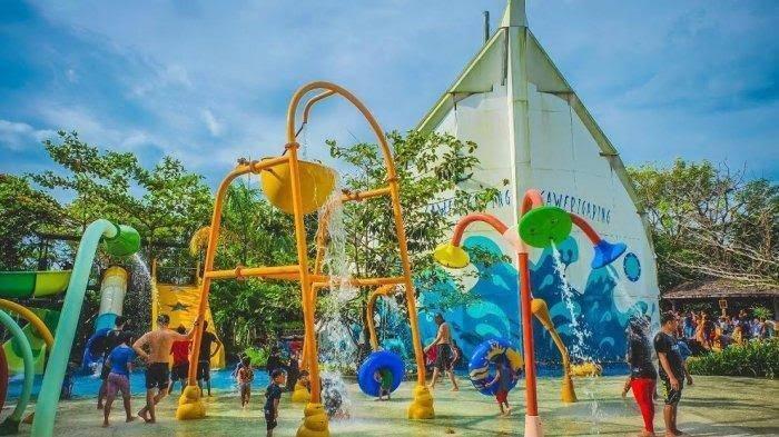 Libur Lebaran, Wahana Bugis Waterpark Adventure Dipadati Pengunjung