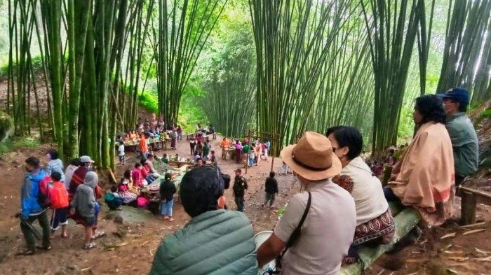 Hutan Bambu To'Kumila Toraja Utara Kembali Dibuka, Warga Berbelanja Tak Pakai Uang