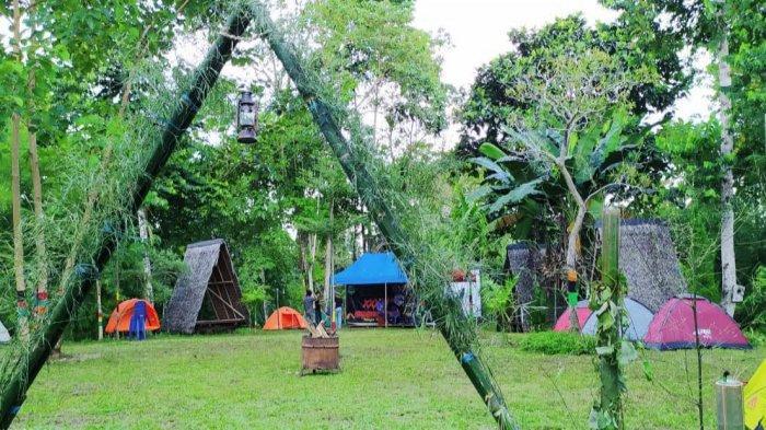 Suasana di wisata Borabora Camp Palopo.