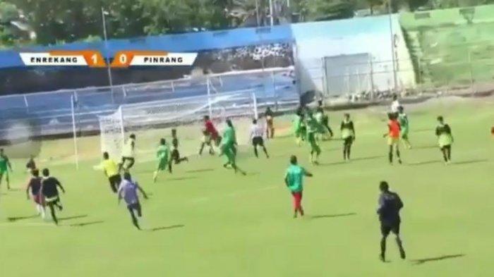 Laga Sepak Bola Pra Porprov Enrekang vs Pinrang Ricuh, PSSI Sulsel: Mental Pemain Harus Dibina