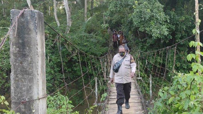 Lokasi Penemuan Jasad Bayi di Tepi Sungai Teppoe Bone Sekitar Area Pemancingan