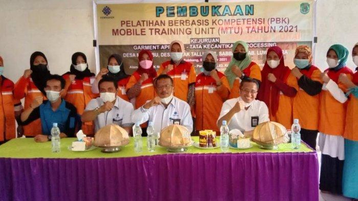 BLK Pangkep Buka Empat Pelatihan Berbasis Kompetensi di Luwu Utara