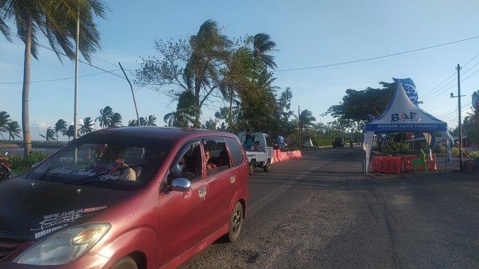Pos Penyekatan di Desa Bonto Jai Bantaeng Sudah Longgar, Kendaraan Bebas Melintas