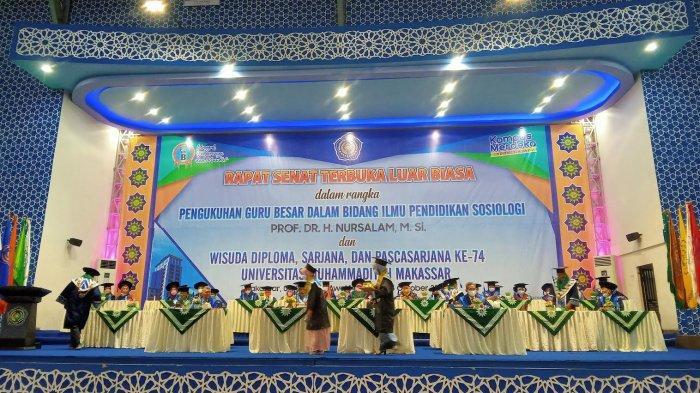 Unismuh Makassar Kukuhkan 1.390 Wisudawan
