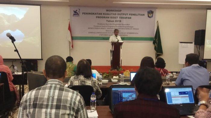 LP2S UMI dan Dikti Workshop Hirilisasi Penelitian, 60 Peneliti Hadir