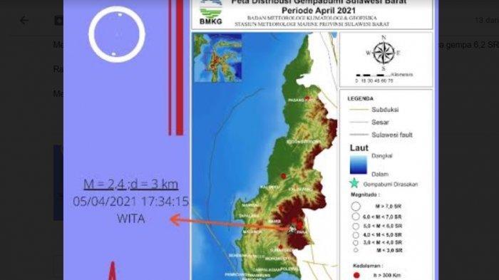 BMKG: Selama April 2021, Sulbar Diguncang Gempa 10 Kali