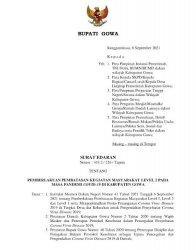 PPKM Diperpanjang, Kabupaten Gowa Turun Level 2, Simak Aturannya