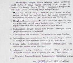 Empat Pasien Covid-19 Meninggal, Lembang Palipu' Tana Toraja Isolasi Wilayah