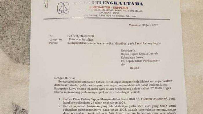 Pemkab Luwu dan PT MEU Perebutkan Retribusi Pasar Padang Sappa