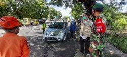 Petugas Gabungan Cegat Pemudik di Perbatasan Parepare-Barru