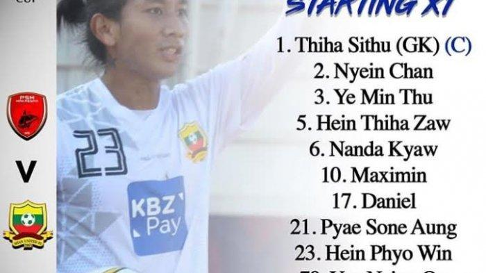 Shan United Sukses Memperkecil Kedudukan dari Tuan Rumah PSM, Skor 2-1