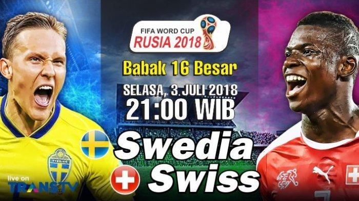 Live Trans TV dan 3 Cara Nonton Live Streaming Swiss vs Swedia di HP: Berikut Daftar Susunan Pemain