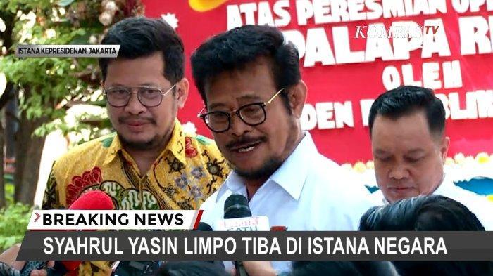 Syahrul Yasin Limpo Calon Menteri, Ganti Susi Pudjiastuti Andi Amran Sulaiman? Tak Lewat Surya Paloh