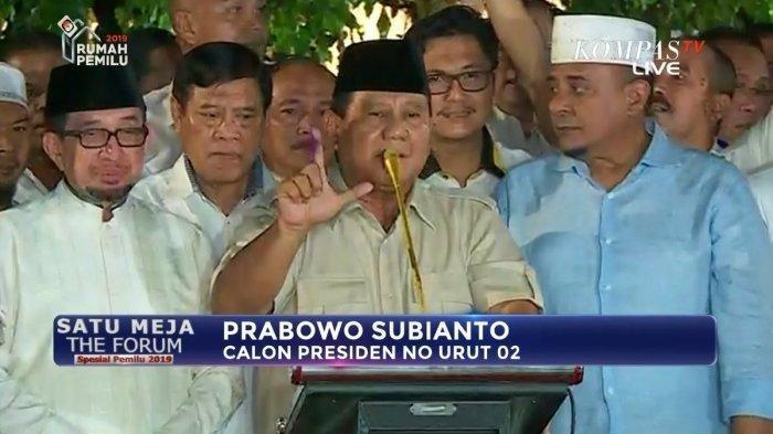 Tak Hadir di Mahkamah Konstitusi, Di Mana Prabowo saat Sidang Sengketa Pilpres 2019 Berlangsung?