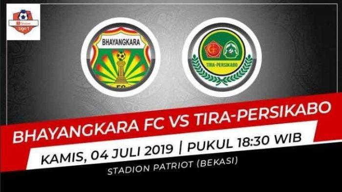 Tak Tayang di Indosiar, Ini Link Live OChanel, Live Score Bhayangkara FC vs PS Tira Persikabo