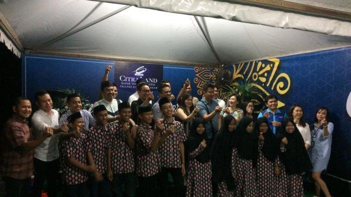 Manajemen CitraLand Tallasa City Buka Puasa Bareng Broker dan Santuni Anak Yatim