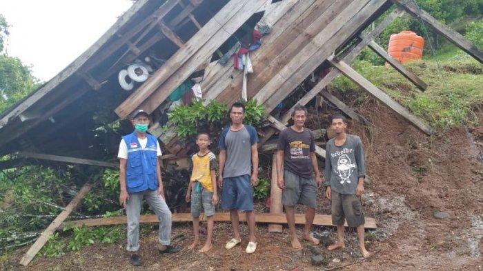Tanah Longsor di Desa Sampano Luwu, 1 Rumah Warga Rusak