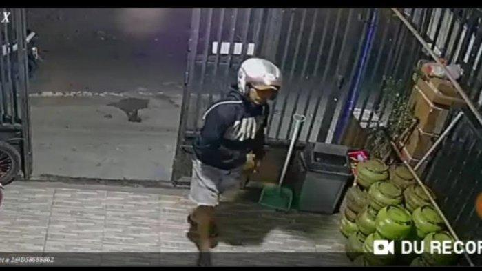 Aksi Pencurian Tabung Gas di Pinrang Terekam CCTV, Pelaku Gunakan Jaket dan Helm