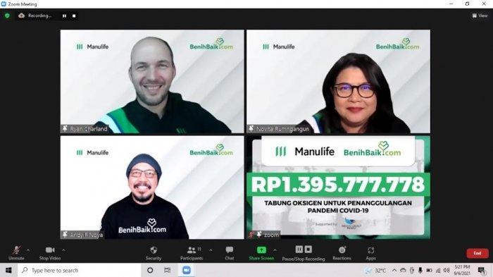 Manulife Indonesia Donasi 500 Tabung Oksigen untuk Penanganan Covid-19 di Faskes