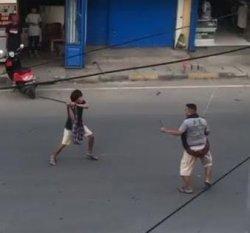 Viral Video Warga Pinrang Duel Pakai Samurai, Kapolsek; Dendam Lama
