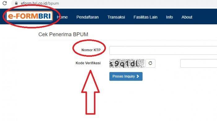 LINK eform.bri.co.id/bpum Login Cek Nama Daftar Penerima BLT BPUM Rp 2,4 Juta, Syarat Cuma No KTP