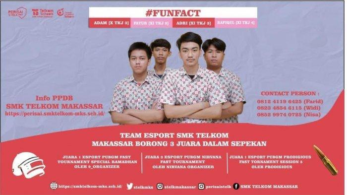 Team Esport SMK Telkom Makassar Borong 3 Juara Dalam Sepekan