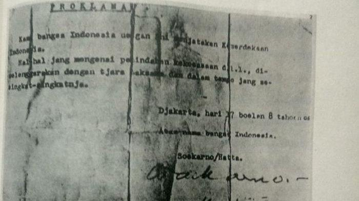 Ini 5 Perubahan Penting Pada Naskah Proklamasi Autentik Sebelum Dibacakan Oleh Soekarno Dan Hatta Halaman All Tribun Timur
