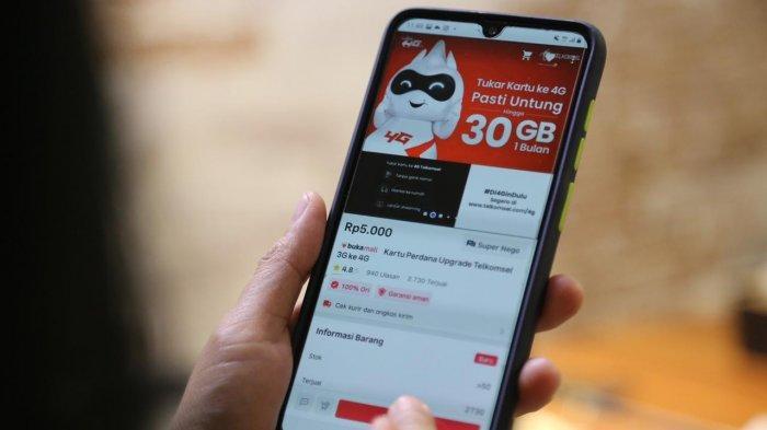 Bisa Upgrade Kartu uSIM 4G Telkomsel melalui E-commerce