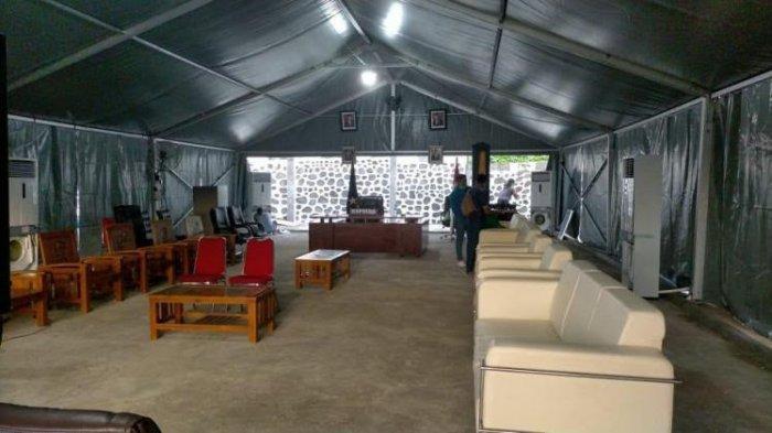 Gedung Rusak Parah Akibat Gempa, Kapolda Sulbar Berkantor di Tenda Darurat